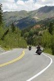 风景高速公路的山 免版税库存图片