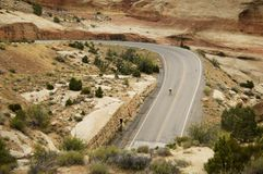 风景高速公路的山 免版税库存照片