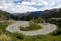 风景高速公路的山 库存图片