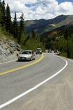 风景高速公路的山 库存照片