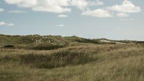 风景,云彩,沙丘,阿默兰岛wadden,海岛荷兰荷兰 免版税图库摄影