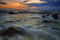 风景,自然,天空,太阳,海景,海滩,海, 库存图片