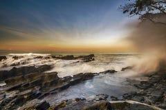 风景,自然, clauds,天空,天空,日落,日出,湖, 免版税库存照片