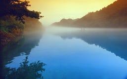 类风景郴州东江湖 免版税库存照片