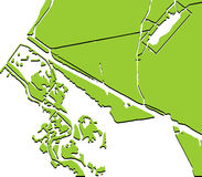 风景绿色样式 免版税图库摄影