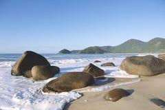 风景巴西海滩特林达迪Paraty巴西 免版税库存图片