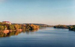 风景 Vinnytsya,乌克兰, 35mm影片 免版税图库摄影