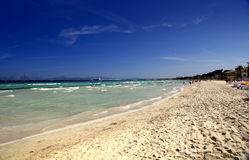 风景alcudia的海滩 图库摄影
