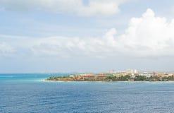 风景aruba的海岛 图库摄影
