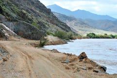 风景C13路线在沿奥兰治河的纳米比亚 库存图片