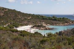 风景cala del principe撒丁岛 免版税库存图片