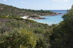 风景cala del principe撒丁岛 免版税库存照片