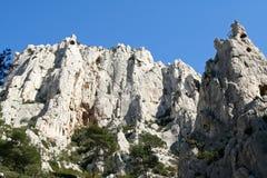 风景calanques的cassis de 免版税库存照片