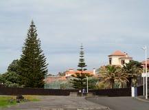 风景Caloura,阿瓜de波城 免版税库存图片
