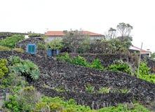 风景Caloura,阿瓜de波城 库存图片