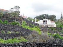 风景Caloura,阿瓜de波城 免版税库存照片