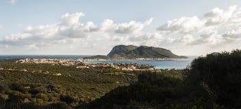 风景golfo aranci 库存图片
