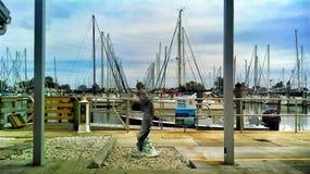 风景Gulfport的小游艇船坞 免版税库存图片