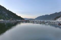 风景Horsehoe海湾的小游艇船坞 免版税库存照片