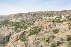 风景Jebel Akhdar阿曼 库存图片