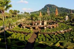 风景Nong Nooch热带植物园 库存照片