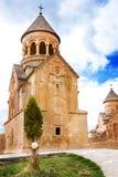 风景Novarank修道院在亚美尼亚 Noravank修道院在1205年建立了 它从耶烈万的122 km位于一道狭窄的峡谷 库存图片