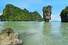 风景Phang Nga的海湾 库存图片