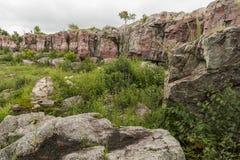 风景Pipestone的峭壁 库存照片