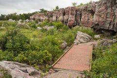 风景Pipestone的峭壁 免版税库存图片