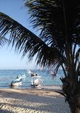 风景Puerto莫雷洛斯州海滩 免版税库存照片