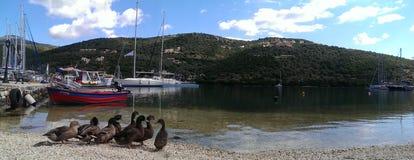 风景Sivota海湾莱夫卡斯州希腊 免版税库存图片