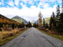 风景Vysoke Tatry在秋天18 免版税图库摄影