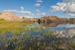 风景Willow湖普里斯科特亚利桑那 免版税库存照片