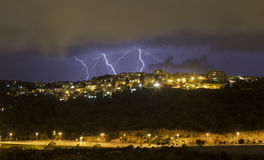 风暴在海法 免版税库存图片