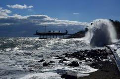 风暴在雅尔塔 免版税库存照片