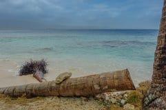风暴日在其中一个海滩中 库存图片