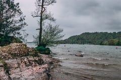 风暴日在湖区 库存图片
