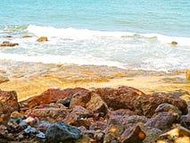 风暴潮、风暴洪水或者风暴浪潮是一次沿海洪水和 免版税库存照片