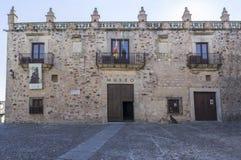风标宫殿,卡塞里斯,西班牙 免版税库存图片