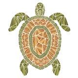 风格化乌龟样式zentangle 免版税库存照片