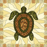 风格化乌龟样式zentangle 图库摄影