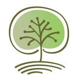 风格化传染媒介树 库存图片