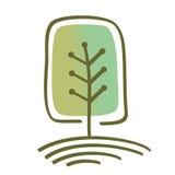 风格化传染媒介树 图库摄影