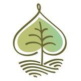 风格化传染媒介树 免版税图库摄影