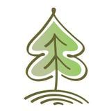 风格化传染媒介树 免版税库存图片