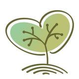 风格化传染媒介树 免版税库存照片