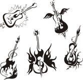 风格化吉他 免版税库存照片