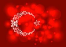 风格化土耳其旗子 向量例证