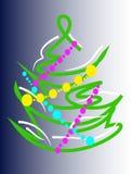 风格化圣诞树有溢出的背景 向量例证