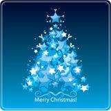 风格化圣诞树,贺卡 库存照片